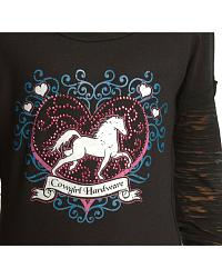 Hearts/horse L/S Knit at Sheplers