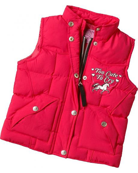 Cowgirl Hardware Too Cute to Cry Nylon Vest - 2T-4T