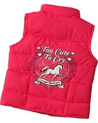 Cowgirl Hardware Too Cute to Cry Nylon Vest at Sheplers