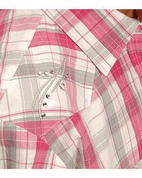 Red Ranch Girls' Pink & Grey Plaid Western Shirt - at Sheplers