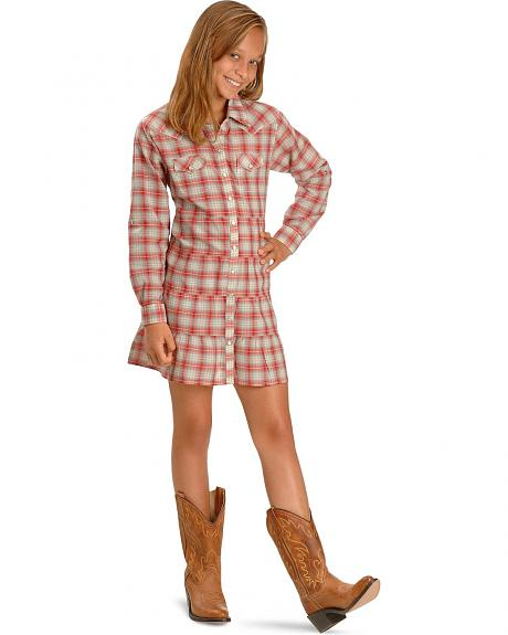 Wrangler Red Plaid Dress - 5-16