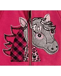 Wrangler Infant Girls' Horse Applique Hoodie at Sheplers