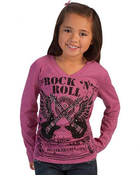 Girls' Rock n' Roll Guitars Tee - 5-16