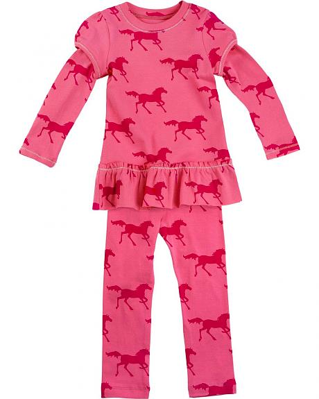Red Ranch Toddlers' Horse Leggings and Dress - 2T-4T