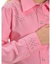 Cumberland Outfitters Girls' Rhinestone Yoke Shirt at Sheplers