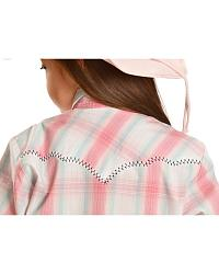 Red Ranch Pink Plaid w/ Contrast Whip Stitch at Sheplers