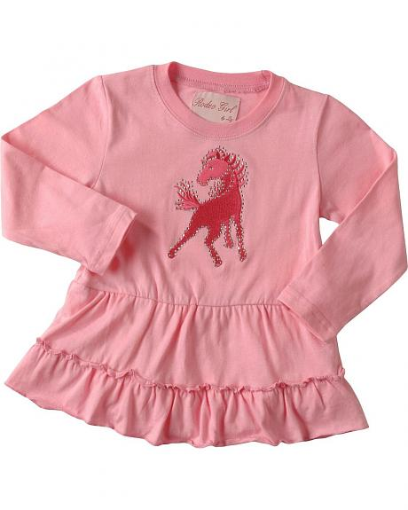 Red Ranch Toddler Girls' Horse Bodysuit w/Skirt - 2T-4T