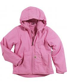 Carhartt Girls' Sherpa Lined Canvas Jacket - 4-7