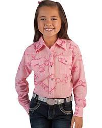 Girls' Swiss Dot Lurex Rhinestone Snap Western Shirt - 5-16 at Sheplers
