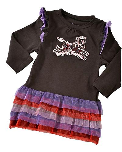 Wrangler Infant Girls Ruffled Tutu Dress Western & Country PQK834X