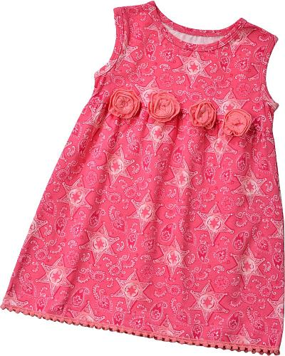 Wrangler Infant Girls Sheriff Badge Rosette Dress 6M-18M Western & Country PQK144K