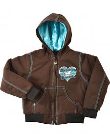 Cowgirl Hardware Toddler Girls' Untamed Cowgirl Hooded Jacket