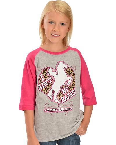 Cowgirl Hardware I Aint No Barbie Knit Shirt Western & Country 415185-153
