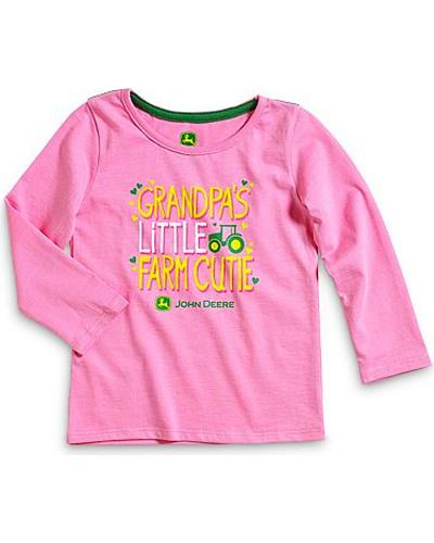 John Deere Grandpas Little Farm Cutie Long Sleeve Shirt 2T-4T Western & Country JFGT032P2T1