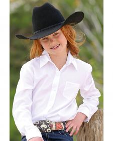Cruel Girl Girls' White Long Sleeve Button Up Top