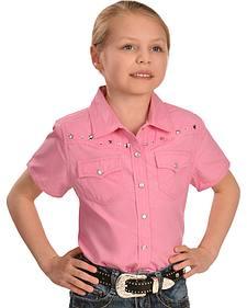 Cumberland Outfitters Pink Star Rhinestone Shirt