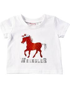 Wrangler Infant Girls' Polka Dot Horse T-Shirt