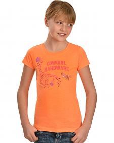 Cowgirl Hardware Girls' Horse & Blooms Tee