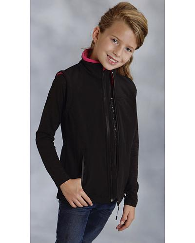 Roper Girls Hi Tech Softshell Fleece Vest Western & Country 03-298-0781-0422 PI