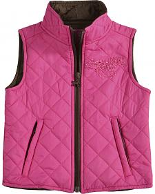 Cowgirl Hardware Toddler Girls' Horse and Heart Vest