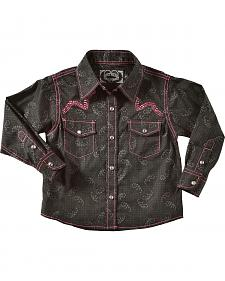 Cowgirl Hardware Toddler Girls' Paisley with Horse and Barbwire
