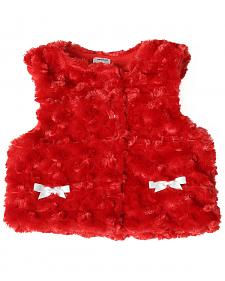 Wrangler Toddler Girls' Red Fur Vest
