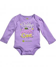 John Deere Infant Girls' Daddy's Little Cutie Long Sleeve Bodysuit