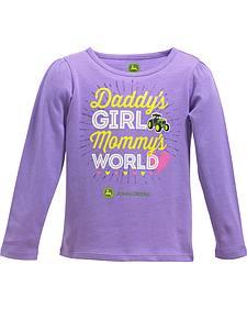 John Deere Toddler Girls' Daddy's Girl Long Sleeve Shirt