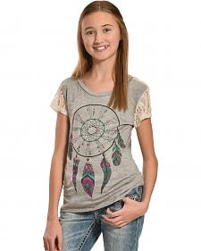 Petrol Girls' Feather Frenzy Lace Back Tee