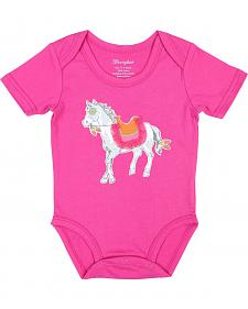 Wrangler Infant Girls' Pink Pony Bodysuit