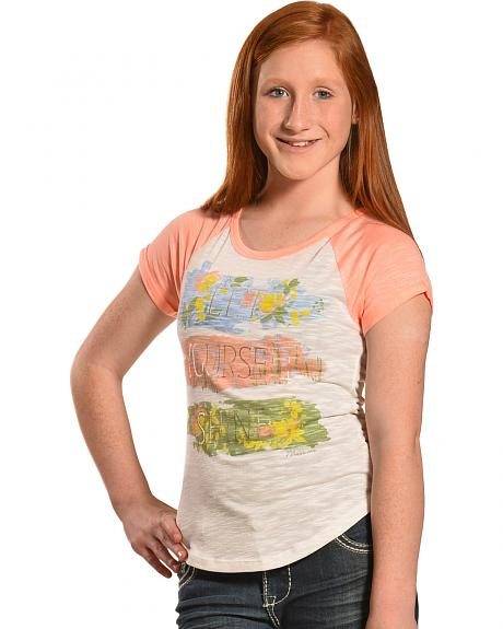 Miss Me Girls' Let Yourself Shine Tee