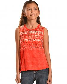 Miss Me Girls' Split Back Crochet Top