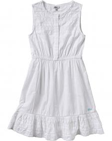 Silver Girls' White Lace Cotton Dress