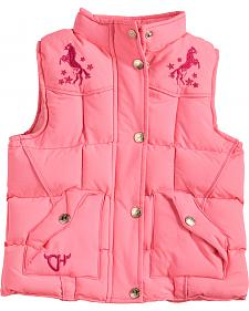 Cowgirl Hardware Toddler Girls' Pink Heart 'n Horse Vest