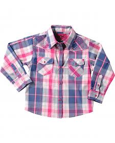 Cowgirl Hardware Toddler Girls' Pink Plaid Western Shirt