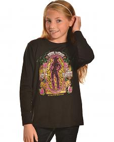"Cowgirl Hardware Girls' Black ""I Ain't No Barbie"" Long Sleeve Tee"