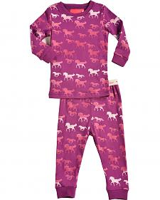 Cowgirl Hardware Infant Girls' Pink Horse Print Playset