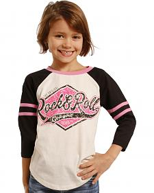 Rock & Roll Cowgirl Girls' Varsity Baseball Tee