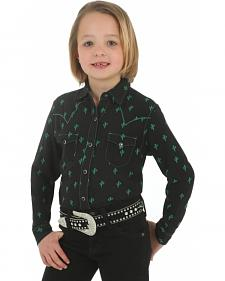 Wrangler Rock 47 Girls' Cactus Print Shirt