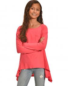 Derek Heart Girls' Coral Super Soft Yummy Sharkbite Tunic