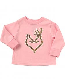 Browning Toddler Girls' Pink Realtree Camo Buckheart Long Sleeve T-Shirt