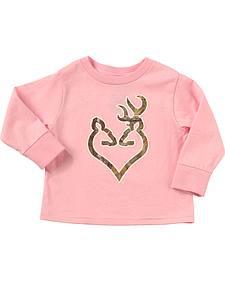 Browning Toddler Girls' Pink Realtree Camo Buckheart Long Sleeve T-Shirt