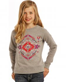 Rock & Roll Cowgirl Girls' Diamond Aztec Sweatshirt