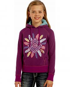 Rock & Roll Cowgirl Girls' Aztec Pullover Hoodie