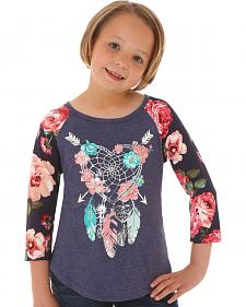 Wrangler Girls' Dreamcatcher Raglan Shirt