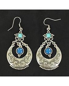 Blazin Roxx Blue Chandelier Earrings