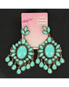 Blazin Roxx Turquoise Drop Chandelier Earrings