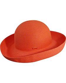 Betmar Women's Classic Roll-Up Coral Sun Hat
