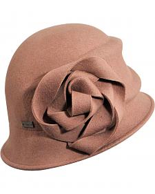 Betmar Women's Alexandrite Rose Wool Felt Cloche Hat