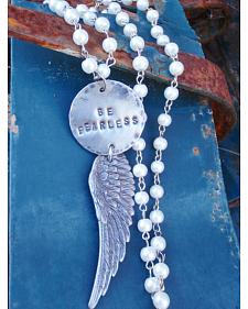 """Jewelry Junkie """"Be Fearless"""" Pearl Necklace"""